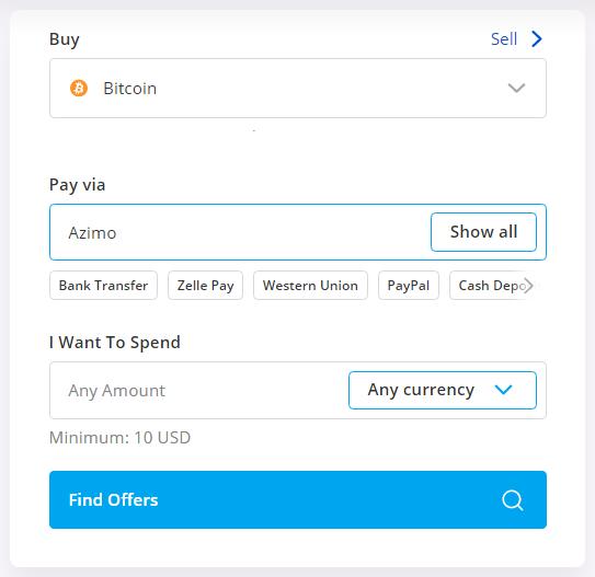 buy btc using azimo