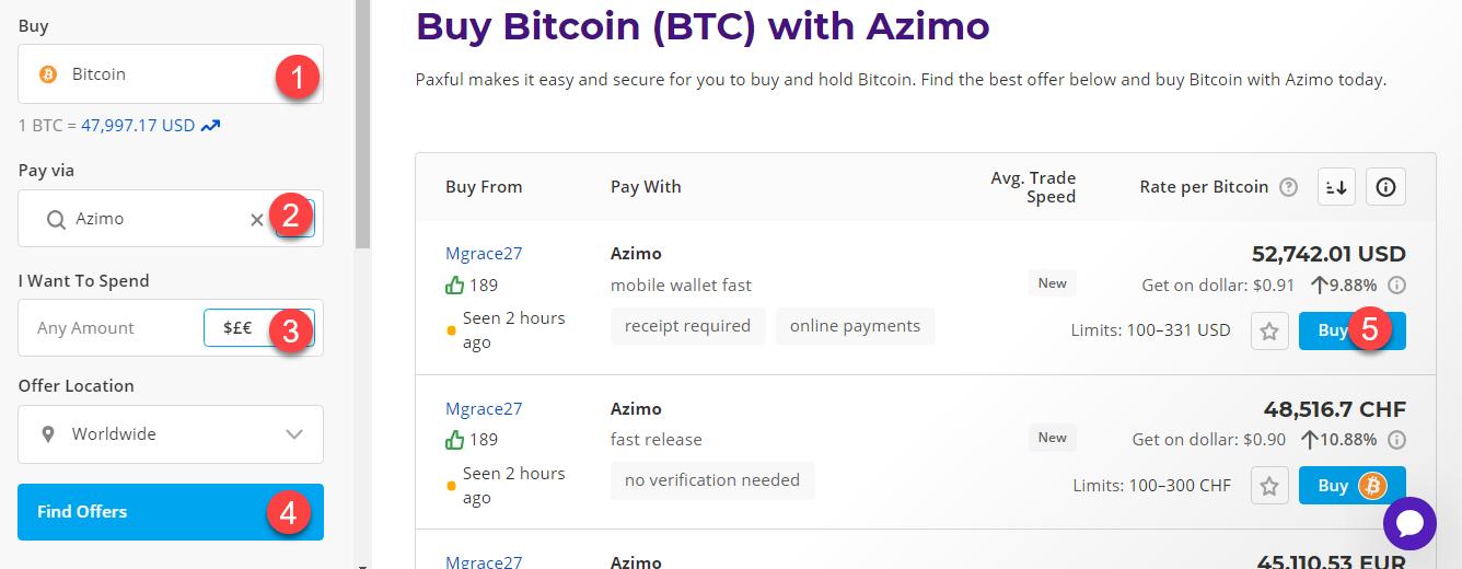 buy btc with azimo