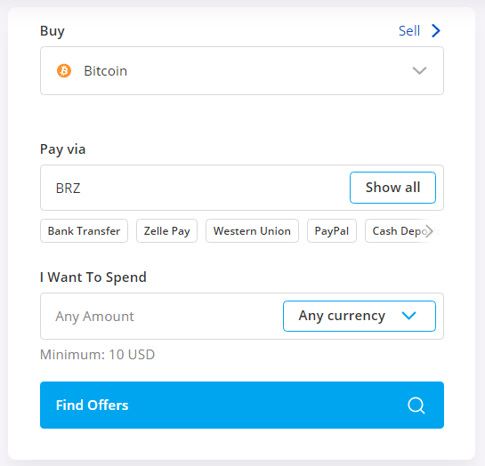buy btc using brz