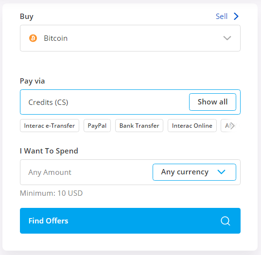 buy btc using credit cs card