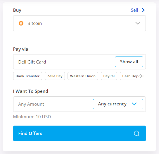 buy btc using dell gift card