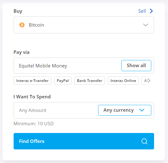 buy btc using equitel mobile money