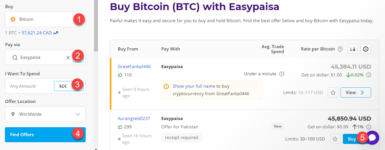 buy btc with easypaisa
