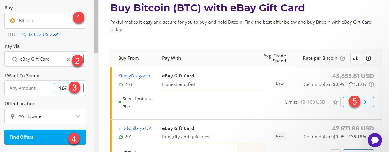 buy btc with ebay gift card