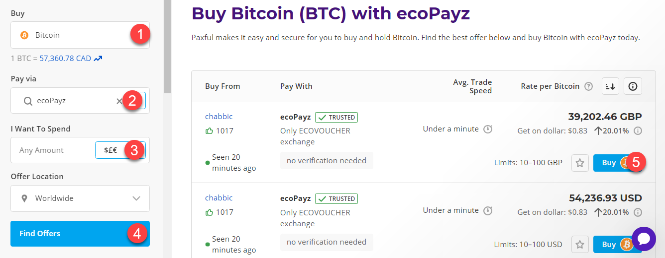 buy btc with ecopayz