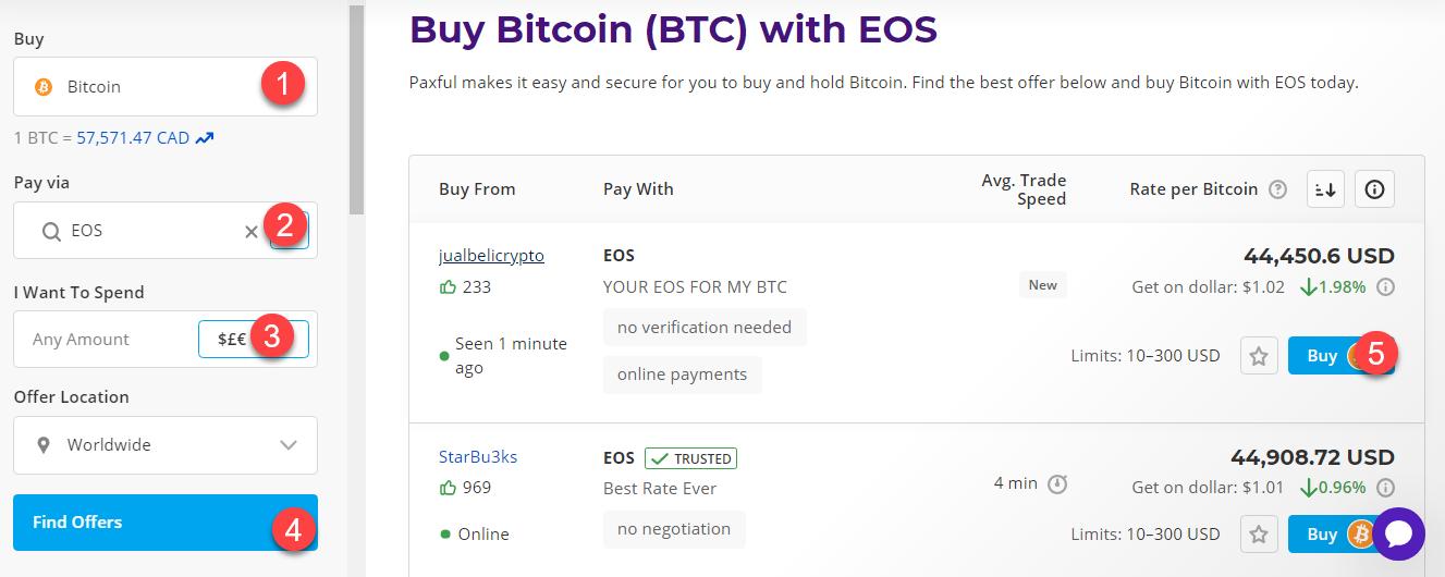 buy btc with eos