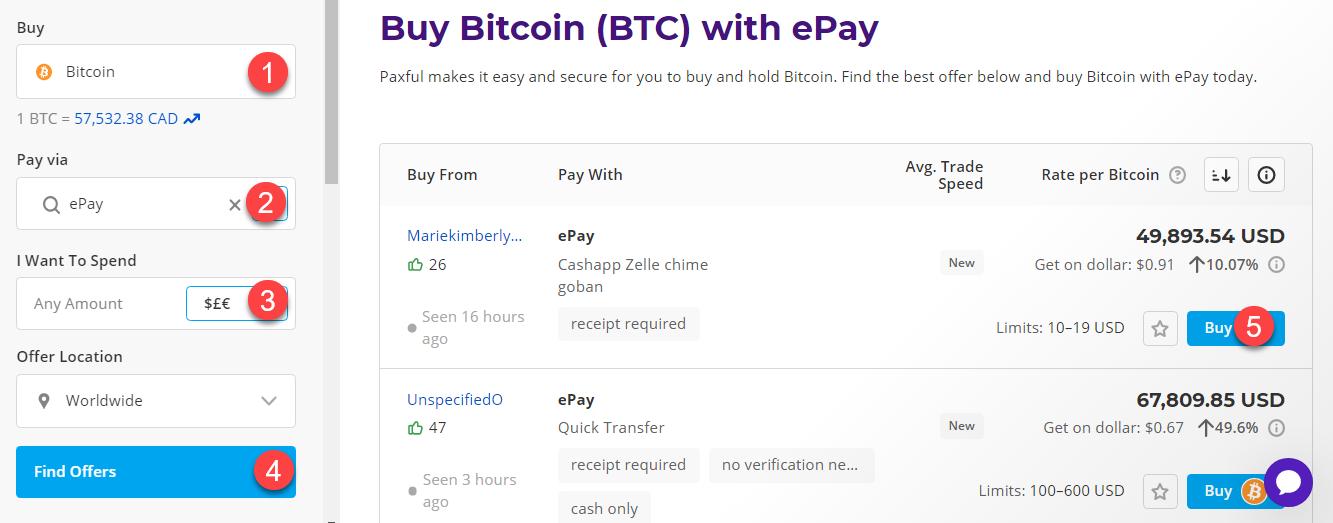 buy btc with epay