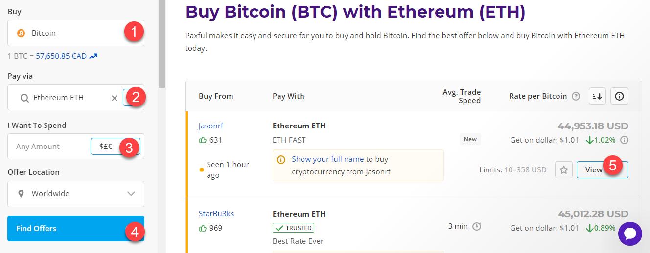 buy btc with ethereum